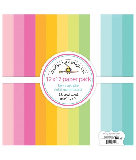 DOODLEBUG - Hey Cupcake Textured Cardstock - 30x30 Inch Paper Pad