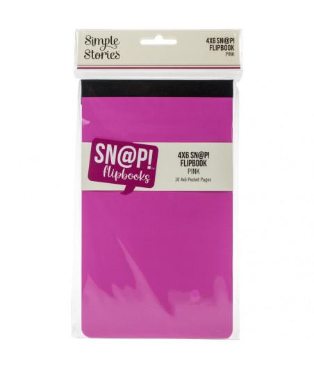 SIMPLE STORIES - Album 4x6 - Snap! - Flipbook Pink