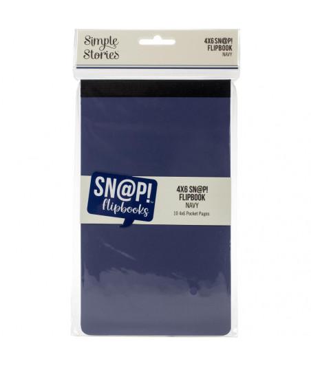 SIMPLE STORIES - Album 4x6 - Snap! - Flipbook Navy