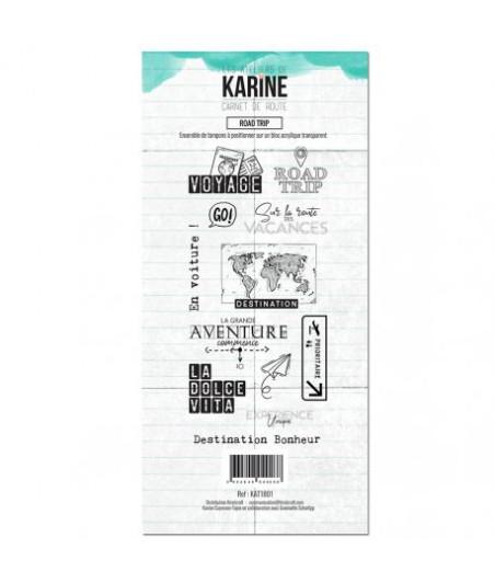 KARINE - Clear Stamp Carnet de route Road Trip- Les