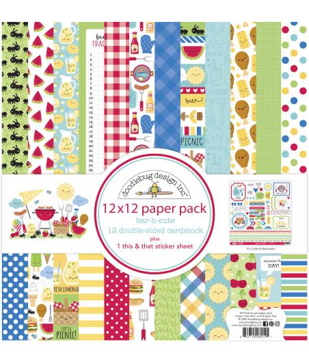 DOODLEBUG - Bar-b-cute 12x12 - 30x30 Inch Paper Pad