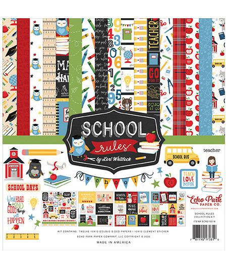 ECHO PARK - School Rules 12x12 Inch Collection Kit