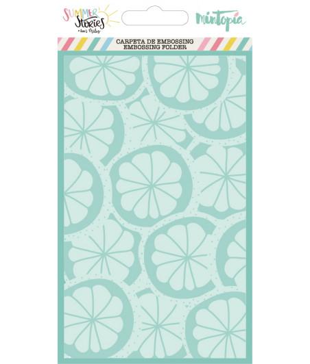 MINTOPIA - Carpeta de embossing Limones Summer Stories