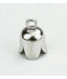 Brass bell cap loop silver...