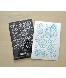 YUPPLA - BLACK Stencil - Mare di fiori