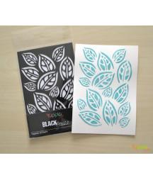 YUPPLA - BLACK Stencil - Tappeto di foglie