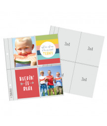 SIMPLE STORIES - 6X8 SN@P! Flipbook Pages - 3x4 Pack Refills