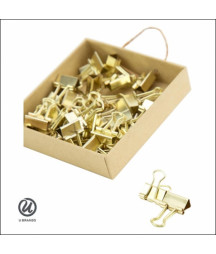 U Brands Mini Binder Clips Gold - 5 PEZZI