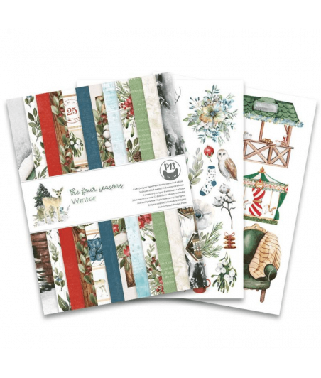 PIATEK13 - Paper pad The Four Seasons - Winterr 6x8