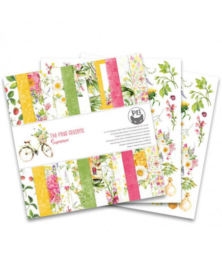 PIATEK - Paper pad The Four Seasons - Summer - 12x12  Pad Collection Kit