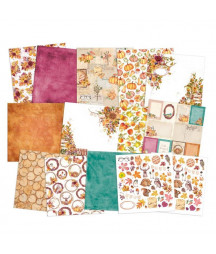 PIATEK - Paper pad The Four Seasons - Autumn - 12x12  Pad Collection Kit