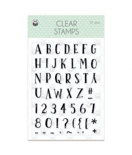 PIATEK - Clear stamp set We are family