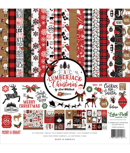 ECHO PARK - Lumberjack Christmas - 12x12  Pad Collection Kit