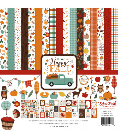 ECHO PARK - Happy Fall - 12x12  Pad Collection Kit