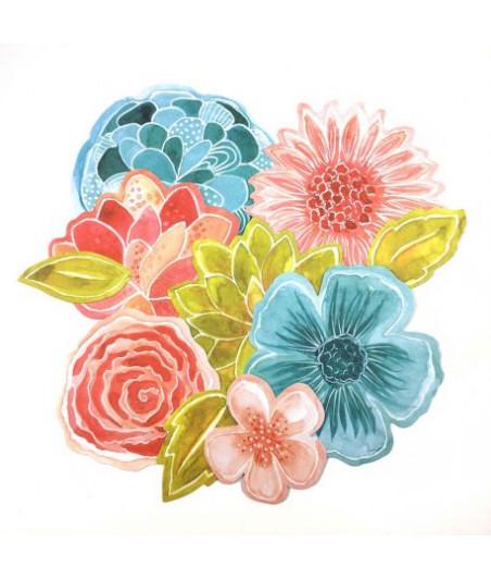 & L'ENCRE - Die Cuts fleurs - Ephemera