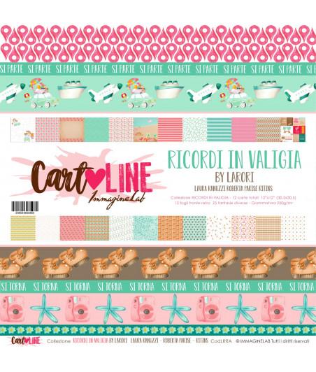 CartoLINE - Ricordi in valigia by LaRoRi 12''x12''