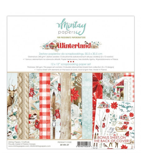MINTAY BY KAROLA - Winterland - 12x12  Pad Collection Kit