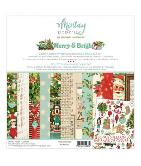 MINTAY BY KAROLA - Merry & Bright - 12x12  Pad Collection Kit