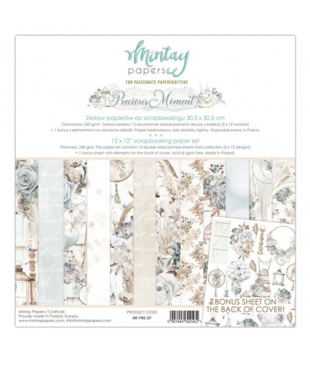 MINTAY BY KAROLA - Precious Moment - 12x12  Pad Collection Kit