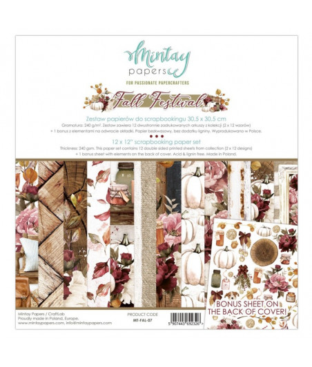 MINTAY BY KAROLA - Fall Festival - 12x12  Pad Collection Kit