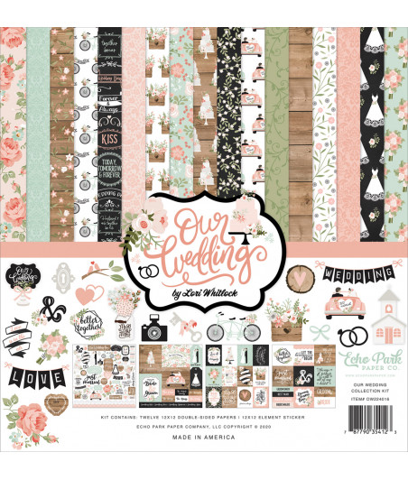 ECHO PARK - Our Wedding - 12x12  Pad Collection Kit