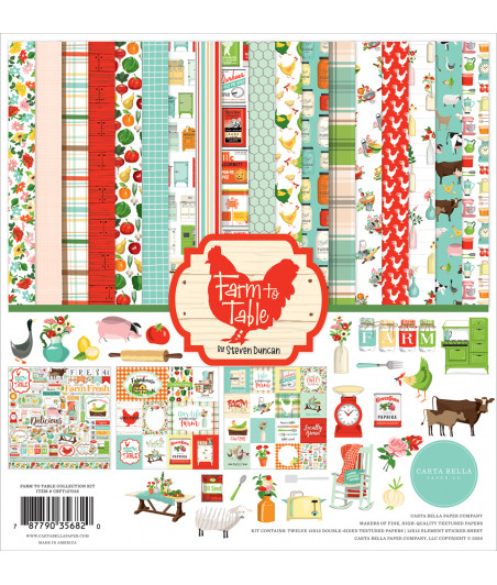 CARTA BELLA - Farm To Table - 12x12  Pad Collection Kit