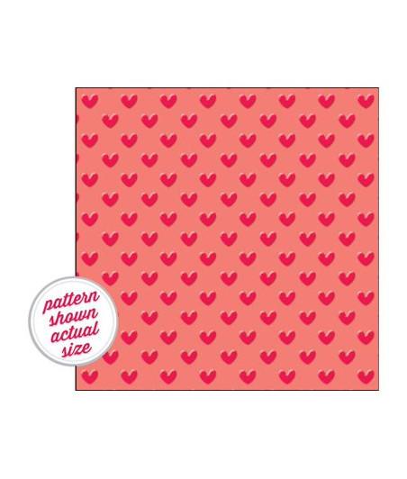 DOODLEBUG DESIGN - Vellum 30x30 'Doodlebug' Red Hearts