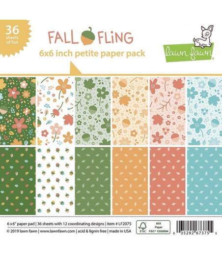 LAWN FAWN -  Fall Fling Petite 6x6 Inch Paper Pack