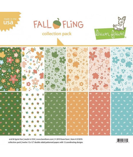 LAWN FAWN - Fall Fling 12x12 Inch Collection Pack