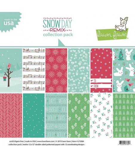LAWN FAWN - Snow Day Remix 12x12 Inch Collection Pack