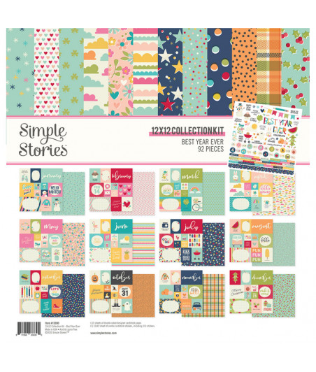 """SIMPLE STORIES - Best Year Ever - Collection Kit 12""""x12"""""""