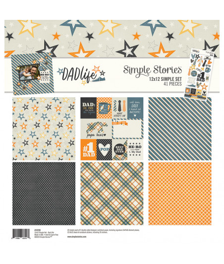 SIMPLE STORIES - Dad Life -  Collection Kit 12x12