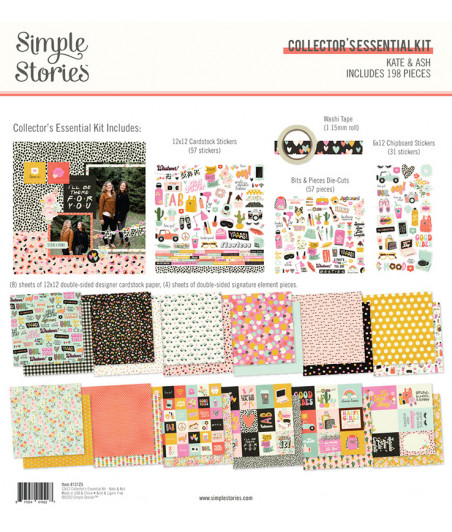 "SIMPLE STORIES - Kate & Ash Collector's Essentials Kit -12""x12"""