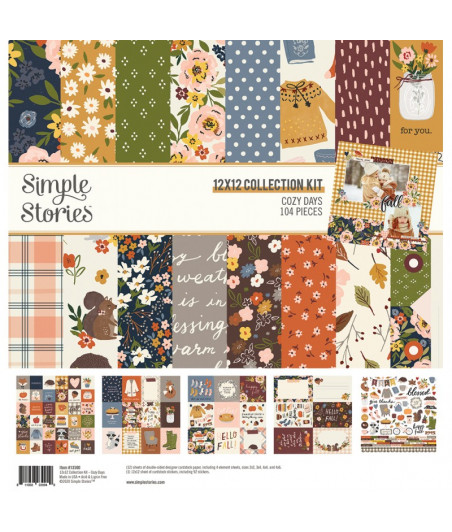 """SIMPLE STORIES - Cozy Days - Collection Kit 12""""x12"""""""
