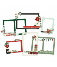 SIMPLE STORIES - Jingle All the Way - Chipboard Frames