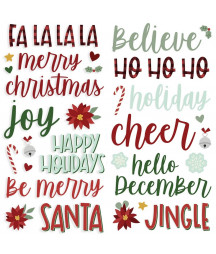 SIMPLE STORIES - Jingle All the Way Foam Stickers - 6x12