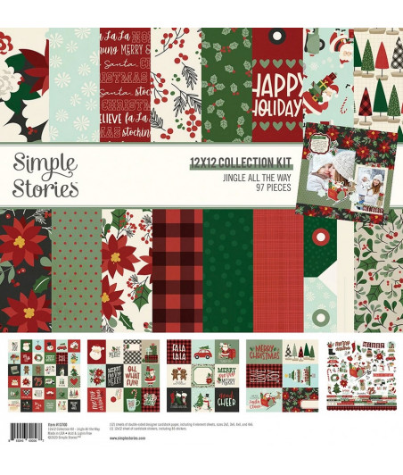 "SIMPLE STORIES - Jingle All the Way - Collection Kit 12""x12"""