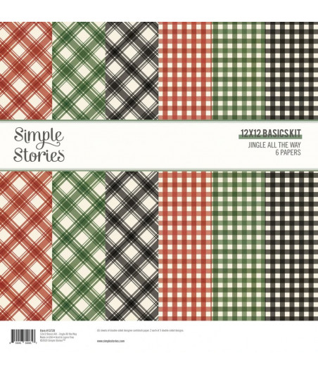 SIMPLE STORIES - Jingle All the Way - Simple Basics Kit