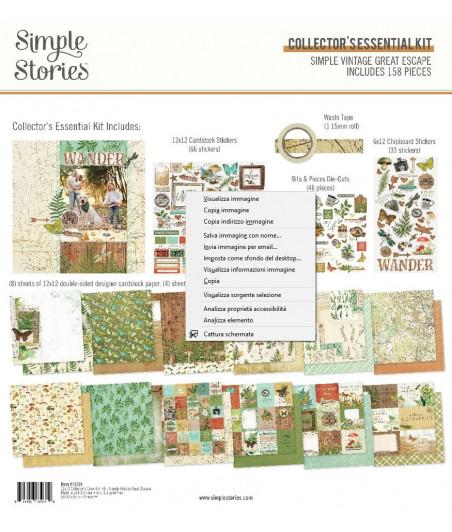"SIMPLE STORIES - Great Escape Essentials Kit -12""x12"""
