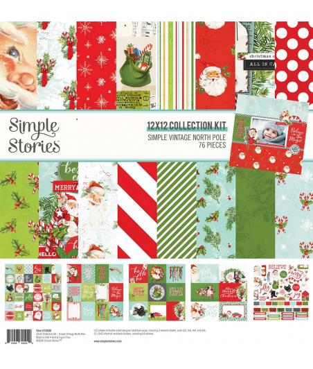"""SIMPLE STORIES - Simple Vintage North Pole - Collection Kit 12""""x12"""""""