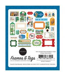 CARTA BELLA - Zoo Adventure - Frames & Tags