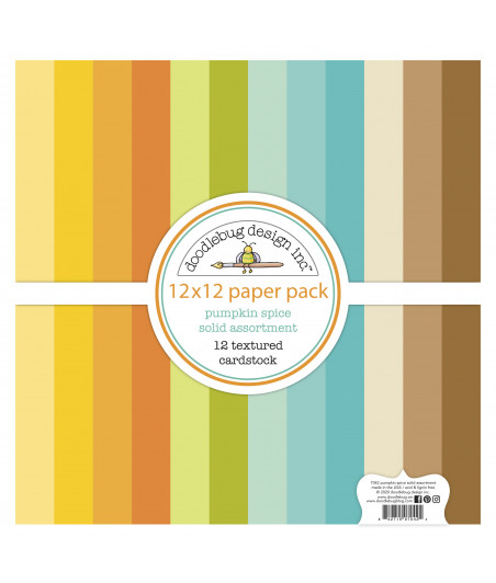 DOODLEBUG - Pumpkin Spice Textured Cardstock - 30x30 Inch Paper Pad
