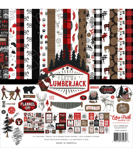 ECHO PARK - Let's Lumberjack - 12x12  Pad Collection Kit