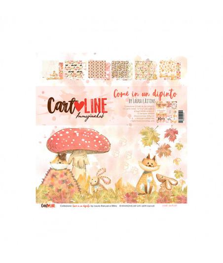 CartoLINE - Come in un dipinto by LaRi 6''x6''