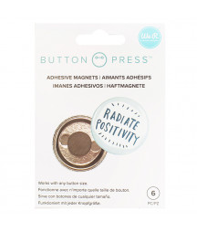 WE R  MEMORY KEEPERS - Button Press Adhesive Magnets 6 pz