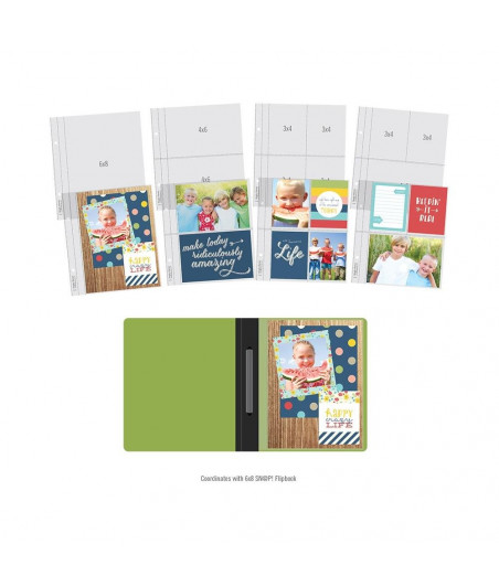 SIMPLE STORIES - 6X8 SN@P! Flipbook Pages - Multi Pack Refills