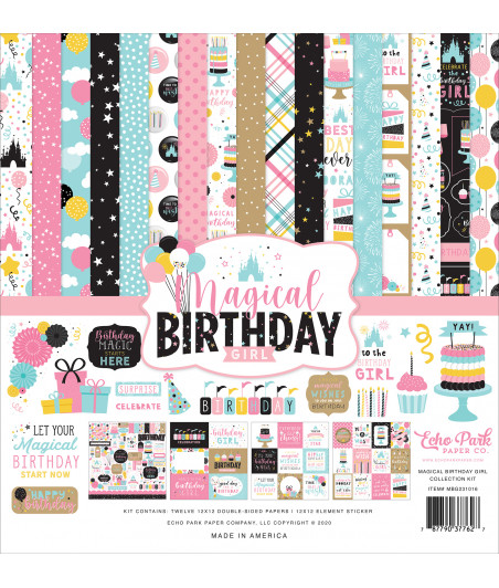 ECHO PARK - Magical Birthday Girl - 12x12  Pad Collection Kit