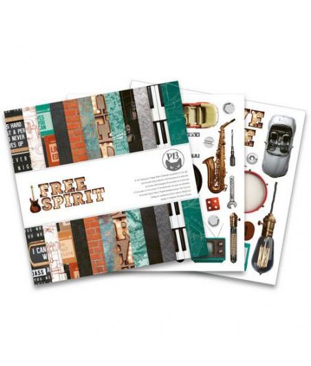 PIATEK - Paper pad Free Spirit - 6x6 Pad Collection Kit