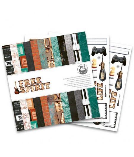 PIATEK - Paper pad Free Spirit - 12x12  Pad Collection Kit