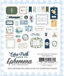 ECHO PARK - Welcome Baby Boy Ephemera